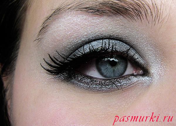 Вечерний макияж для серых или карих глаз блондинок пошагово
