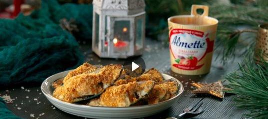Ломаете голову над интересными закусками? Обратите внимание на мидии. Они гораздо дешевле остальных морепродуктов, а вкус – потрясающий. Особенно если запечь их под сырной шапкой из Almette с томатами.