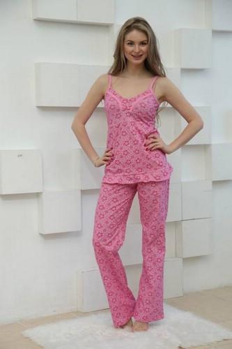 женская пижама из трикотажа