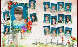 Фотоальбом на выпускной в детском саду - книга памяти дошкольных лет