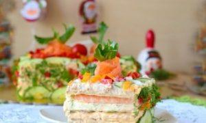 Бутербродный торт на праздник — подробный рецепт